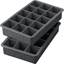 Tovolo Perfect Cube, Silicone, Easy to Remove, Ice Trays, Fade Resistant, Charcoal - Set of 2