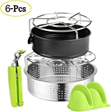 CaLeQi Pressure Cooker Sling Silicone Steamer Basket Lifter with Handles Anti-scalding Bakeware Lifter Steamer Rack for Instant Pot 6//8 Qt Pressure Cooker