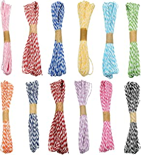 12 Colors Raffia Stripes Paper String for DIY Making Twisted,2mm Paper Craft String Cord Rope,Total 120 Yards(120M)