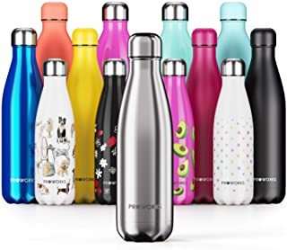 Proworks Botella de Agua Deportiva de Acero Inoxidable |