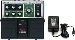 Boss RE-20 Space Echo Delay / Reverb Pedal with Power Supply