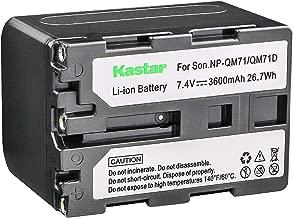Kastar Battery Pack for Sony NP-FM30, NP-FM50, NP-FM70, NP-FM71, NP-FM90, NP-FM91, NP-QM50, NP-QM70, NP-QM71D, NP-QM90, NP-QM91D and Sony HDR-HC1, HVR-A1U, HDR-SR1, HDR-UX1 Handycam Camcorder