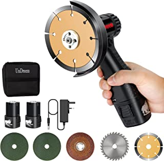 Sponsored Ad – Undreeem Mini Angle Grinder,16.8V with 2 Cut Off and 3 Grinding Polishing Abrasive Wheels Cordless Angle Gr...