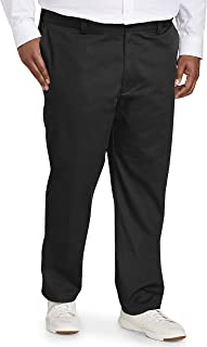 Men's Big & Tall Athletic-fit Wrinkle-Resistant Flat-Front Chino Pant fit by DXL fit by DXL
