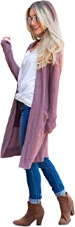 Women's Long Sleeve Knit Open Front Sweater Cardigan with...