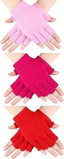 3 Pairs Half Finger Gloves Winter Fingerless Gloves Knit Gloves for Men Women