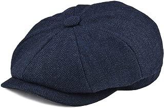 navy herringbone flat cap