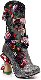 Angelica Pearson Faerie Heel Glitter Boot Black