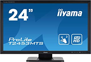 iiyama Prolite T2453MTS B1 59,8 cm (23,6') VA LED Monitor Full HD 2 Punkt Multitouch optisch (VGA, DVI, HDMI, USB2.0) schwarz