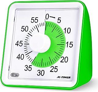 KeeQii Kids Timer 60 Minute 1 Hour Visual Analog Timer 3 inch Silence Countdown Clock - Classroom Teaching or MeetingTime...
