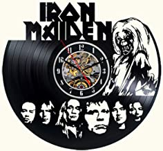 Iron Maiden Vinyl Wall Clock Black Decor Modern Decorative Vinyl Record Wall Clock Unique