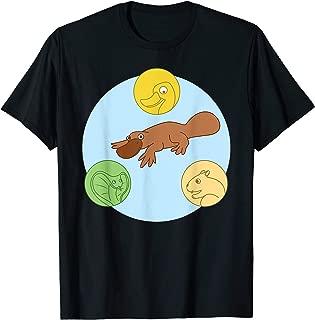 Platypus Venn Diagram T-Shirt Duck Snake Beaver Lover Tee