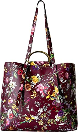 Floral Ring Handle Tote