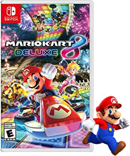 MARIO KART 8 DELUXE Game + Free Mario Action Figure Official