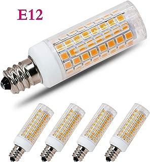 [4-Pack] E12 Led Bulb Candelabra Light Bulbs 8W, 100W (850LM) Equivalent Ceiling Fan Bulbs, Warm White 3000K, LED Chandelier Light Bulbs, LED Bulbs (Base E12) Home Light Fixtures Decorative.