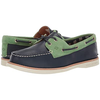 Sperry Authentic Original 2-Eye Premium (Navy/Green) Women