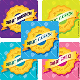 SmileMakers Tooth Fairy Seal of Approval Stickers - Prizes 100 Per Pack