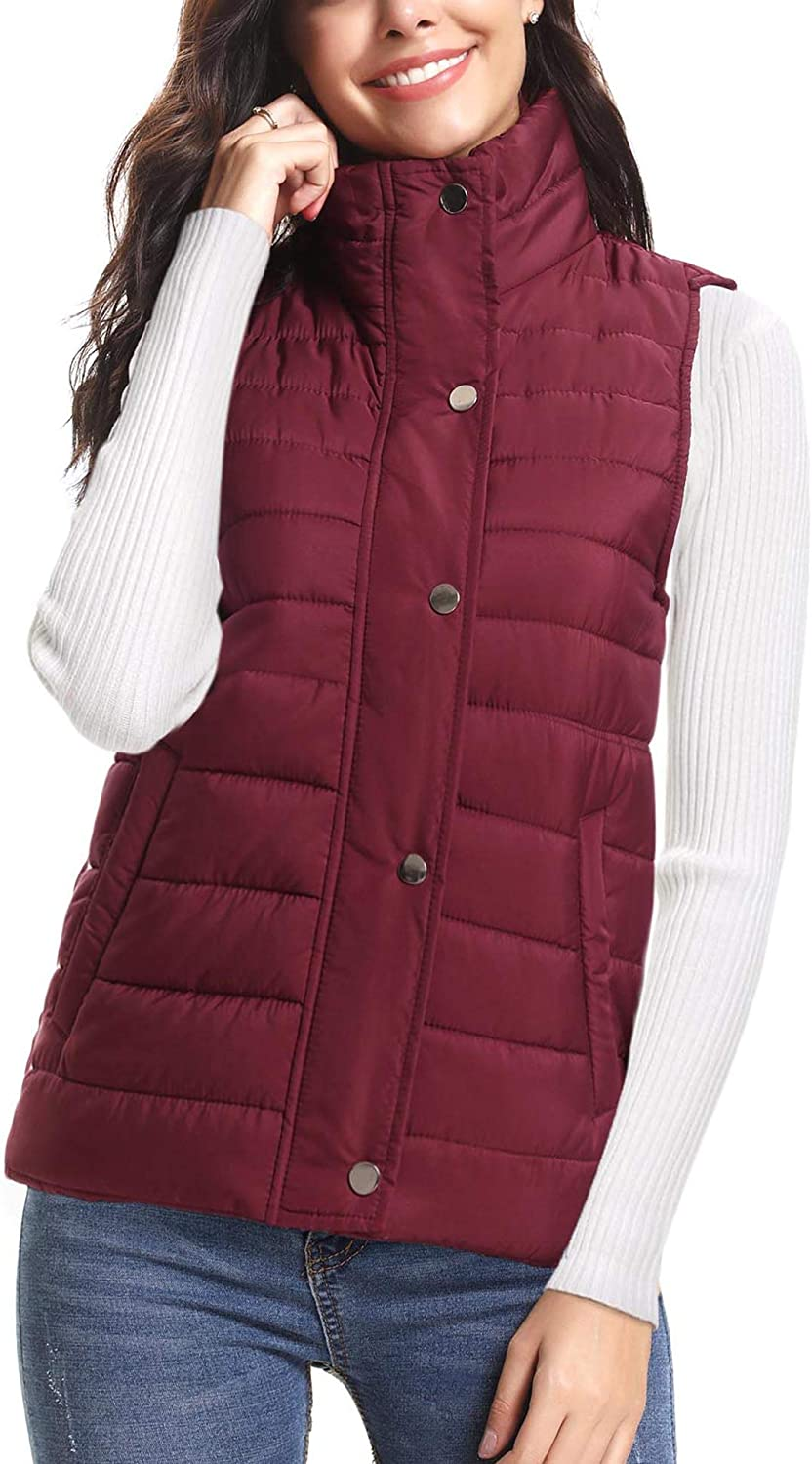 iClosam Womens Winter Puffer Vest Lightweight Packable Vest Quilted Jacket Outerwear Vests