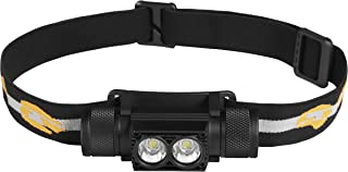 Catalast Group LEDヘッドライト 超軽量 USB充電 防水 90°調整 照明距離200m バッテリー2200A 明るさ調整