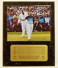 Sergio Garcia 2017 Masters Tournament Champion Celebrating Masters Win 8x10 Picture Plaque with Engraved Scorecard