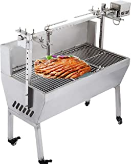 VEVOR 132 lbs/60KG 110V 132 lbs/60KG Rotisserie Grill Roaster BBQ Pig Lamb Stainless Steel, 132 lbs/60KG