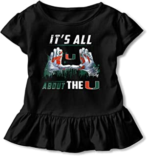 Miami Hurricanes All About The U Baby Girls Solid Short Sleeve T-Shirt Cotton Basic Tee