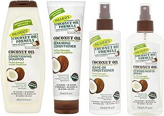 Palmers Coconut Oil Formula Shampoo, Conditioner, Leave-In Conditioner, Spray (Whole Set)