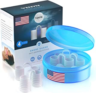 Venyn Set of 4 Nose Vents to Ease Breathing - Anti Snoring - No Side Effects - Advanced Design - Reusable - Includes Trave...