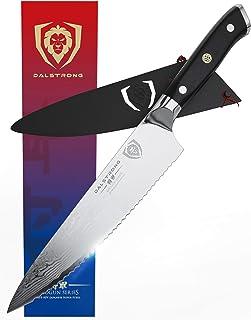 Dalstrong | Kochmesser | Shogun Serie | Damaskus | Japanischer AUS-10V Stahl | Vakuumbehandelt | Wellenschliffmesser, 19 cm, Schwarz