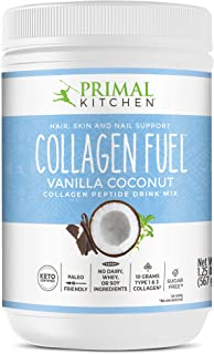 Primal Kitchen Collagen Fuel Protein Mix, Vanilla Coconut, Non-Dairy Coffee Creamer & Smoothie Booster- Sup...