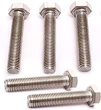 Maro Megastore (Pack of 5pcs) M10 x 50mm (1.25 Pitch) Stainless Steel Metric Hex Head Cap Screws Bolts BLT-009