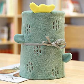 Deciduous Manta de Bebé Personalizada Manta Mullida para Sofá Edredón de Viaje Camping Quilt Mantas Multiusos Cuna Moisés Cesta Artículos de Dormitorio Ropa de Cama,Cactus,80 * 100cm