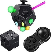 Virtue morals 3 Pieces Fidget Toy Set Including 12 Sided Fidget Cube Fidget Key Infinity Cube Fidget Pad Stress Reducer Co...
