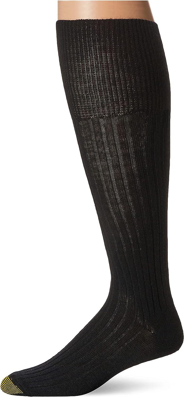 Gold Toe Men's Windsor Wool Over The Calf Dress Socks - 3 Pack 1446H