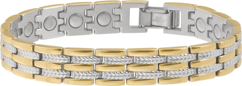Sabona Executive Regal Duet Magnetic Bracelet Max 51% Bargain OFF Large