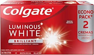Colgate Luminous Pasta Dental White, 75 ml, Paquete de 2 Piezas