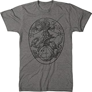 Vintage Alchemy Symbol Rebis Men`s Modern Fit Tri-Blend T-Shirt