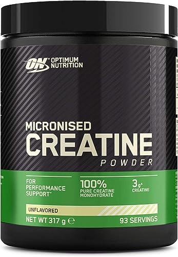 Optimum Nutrition Micronised Creatine Monohydrate, Créatine Monohydrate Micronisé en Poudre, Non Aromatisé, 93 Portio...
