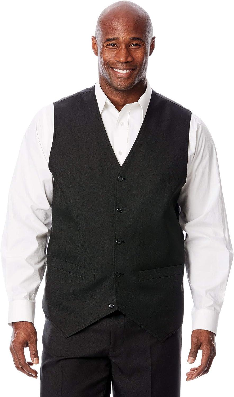 KS Signature by KingSize Men's Big & Tall Easy Movement 5-Button Suit Vest