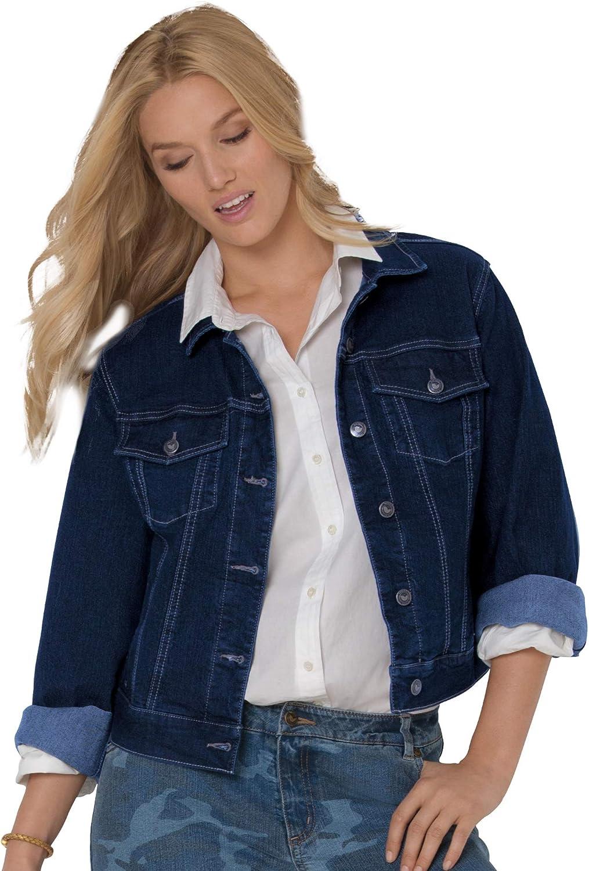 Woman Within Women's Plus Size Stretch Denim Jacket