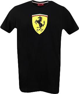 Scuderia Ferrari Men's Black Classic T-Shirt with Large Scudetto Print on Chest (2XL)