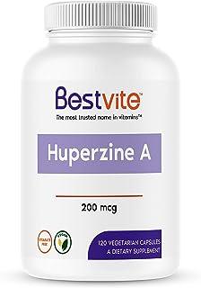 Huperzine A 200mcg (120 Vegetarian Capsules) - No Stearates - No Flow Agents - Vegan - Non GMO - Gluten Free