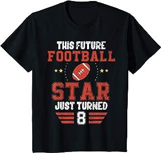 Kids Funny 8th Birthday Football Tee Birthday Boy T-Shirt