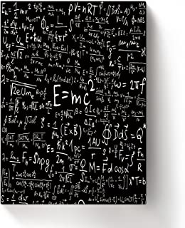 ALAGO Wall Arts-Einstein Formula Giclee Canvas Prints Gallery Wrapped Modern Artworks Physics Relativity Pictures Painting...