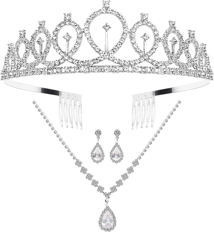 CIEHER Wedding Nashville-Davidson Mall Jewelry Sets for Prom half Bridal Crystal Women Rhines