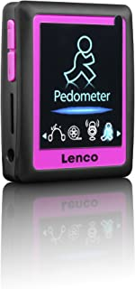 Lenco Podo-152 MP4 Player with Built-in Pedometer and Earphones (4 GB Memory, SD, USB, 4.5 cm/1.8 Inch LCD Screen, E-Book ...