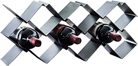 Wine Rack Wine Rack Wine Rack Freestanding Metal 9 Bottle Wine Storage Shelf Rack Wine Holder for Kitchen Portable Wine Ra...