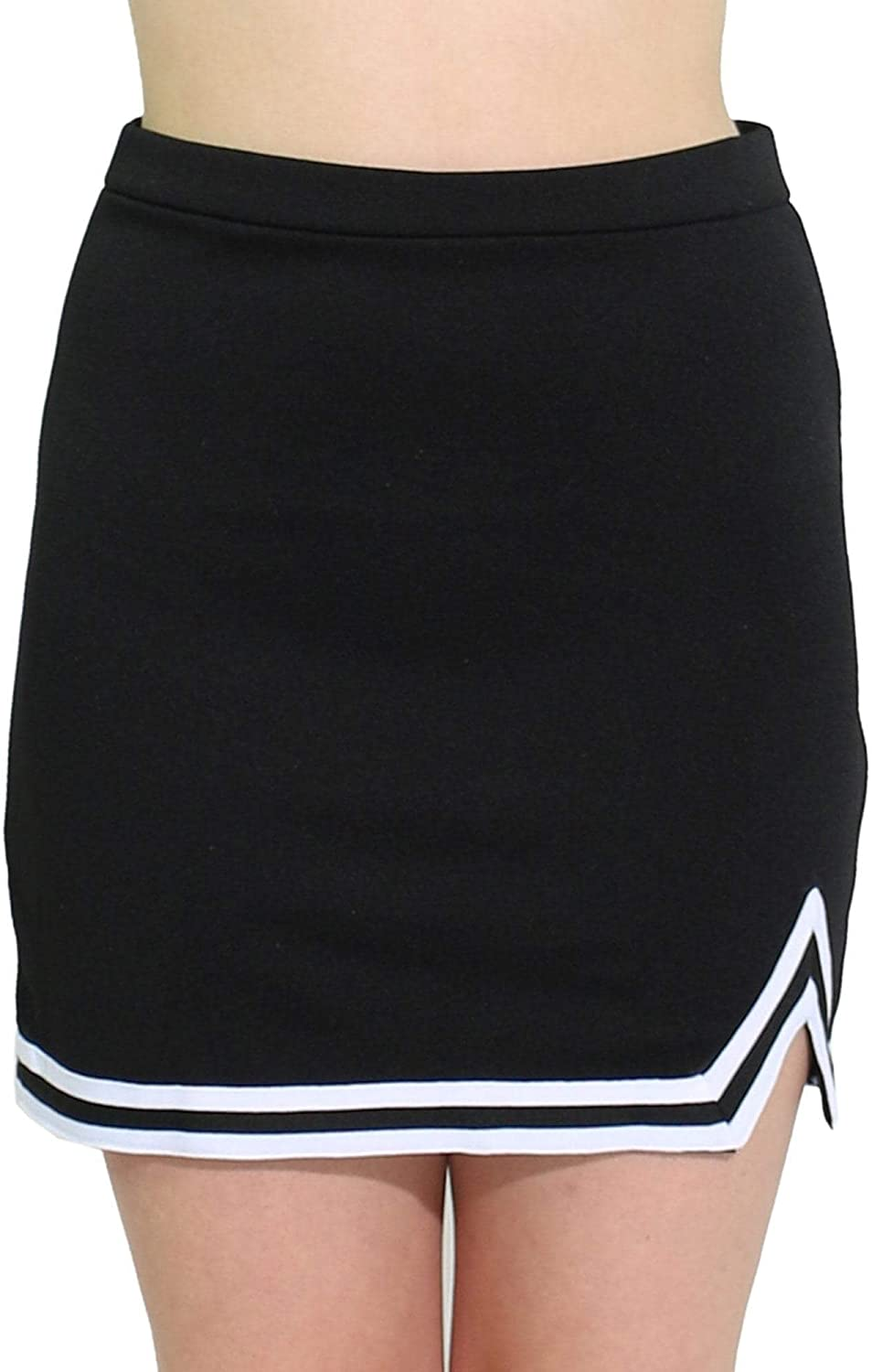 Danzcue Womens Big Kid Double New mail order A-Line Uniform Skirt Cheer Spasm price V
