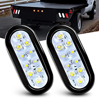 Nilight - Luces traseras LED ovaladas para remolque, 6 pulga