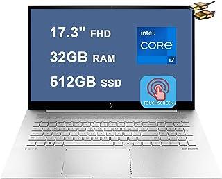 HP 2021 Flagship Envy 17 ノートパソコン 17.3インチ FHD タッチスクリーン(100% sRGB)第11世代 Intel Quad-Core i7-1165G7 32GB RAM 512GB SSD Iris Xe...